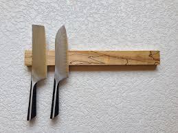 magnetic knife rack magnetic knife strip spalted maple