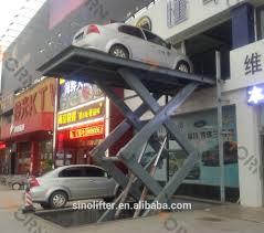 Basement Car Lift Hydraulic Scissor Car Lift For Basement With Ce Buy Scissor Car