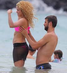 shakira shows off her stunning figure in a string six