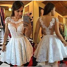white graduation gowns prom dress white homecoming party dress lace