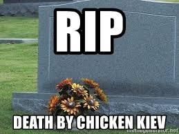 Tombstone Meme Generator - rip death by chicken kiev rip tombstone meme generator