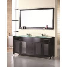 design element double sink 71 5 inch waterfall faucet bathroom
