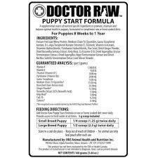 dr raw puppy start formula