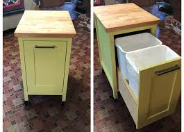 how to build a small kitchen island with cabinets small kitchen island with slide out trash cans