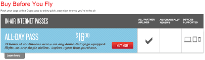 Aa Flight Wifi by Save On Gogo In Flight Wi Fi Access Thrifty Traveler