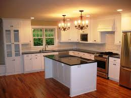 diy white refinish kitchen cabinets with marble countertop single