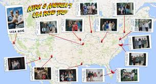 Road Trip Map Friends Across America Andi The Tour Guide