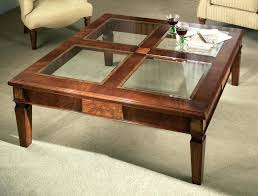 glass top display coffee table wooden coffee tables with glass top cfee wood amazing table inside