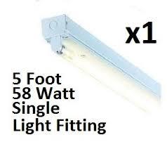 fluorescent light fittings 5ft 1 x 58w 5ft single t8 fluorescent light fitting battern ip20 ceiling
