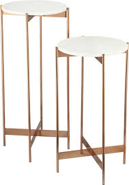 marble rose gold pedestal tables white marble marbles and