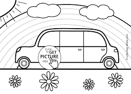 car transportation coloring pages for kids printable