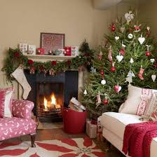 merry decorating ideas for living rooms and fireplace
