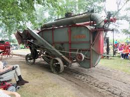 threshing machine from rear oliver tractors u0026 equipment