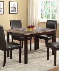 Marble Dining Room Table And Chairs Faux Marble Dining Table Set Foter Throughout Room Decor 13