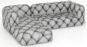 silver tufted sofa restoration hardware soho tufted leather left arm sofa 3d model