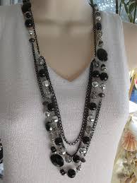 black necklace long images Long black beaded necklace chunky black beaded necklace jpg