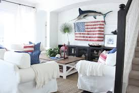 red white and blue decor for the family room starfish cottage