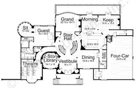 dysart castle castle house plan mansion house plan