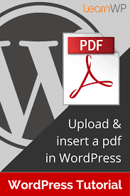 tutorial wordpress com pdf how to upload insert a pdf in wordpress learnwp