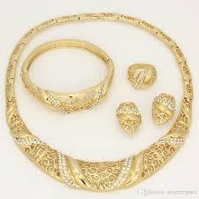 gold sets design 2017 big design 18k wedding jewelry set