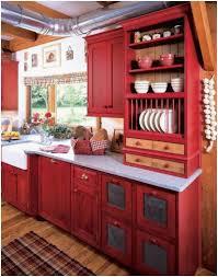Kitchen Cabinet Latest Red Kitchen 82 Beautiful Artistic Red Kitchen Cabinets With Black Glaze Best