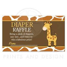 raffle baby shower giraffe brown and orange baby shower raffle ticket