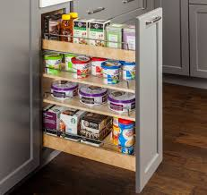Kitchen Cabinet Pullouts No Wiggle In This Base Cabinet Pullout Organizer Woodworking Network