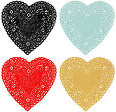 heart shaped doilies doily prints the sweetest occasion
