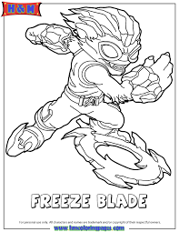 skylanders swap force water freeze blade coloring page free