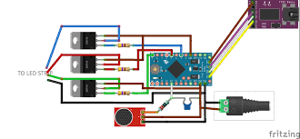music led strip lights rgb led strip controlled by filtered audio signals using an arduino