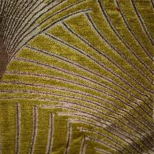 Fabric For Curtains And Upholstery Art Deco Art Nouveau Pistachio Green And Bronze Chenille Curtain