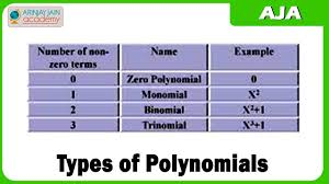 3 types of polynomials youtube