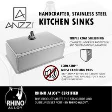 anzzi vanguard undermount stainless steel 30 in 0 hole kitchen