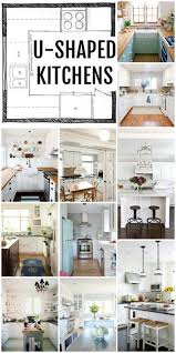 U Shaped Kitchen Floor Plans by Best 10 U Shaped Kitchen Inspiration Ideas On Pinterest U Shape
