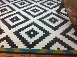 Ikea Cotton Rugs Black White Rug See The Entire Magnolia Home Linerug Lotus This