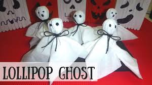 lollipop ghost halloween crafts for kids youtube