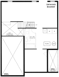 simple house plans with basements a small cottage plan walkout