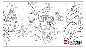 frozen northern lights coloring fun coloring page activities