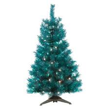 4 pre lit artificial tree translucent turquoise clear