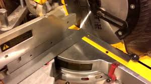 squaring a dewalt miter saw on factory scale youtube