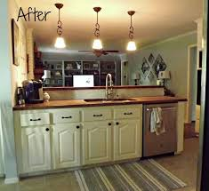 Oak Cabinet Kitchen Makeover - kitchen makeover with butcherblock countertops hometalk