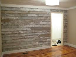 vinyl plank wood flooring as an accent wall for the beach house