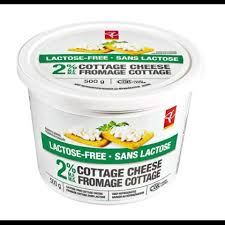 Lactose Intolerance Cottage Cheese by Pc Lactose Free 2 M F Cottage Cheese Pc Ca