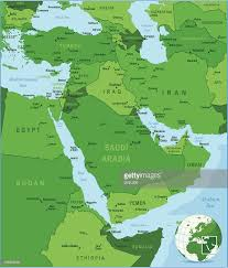 Middle East Map by Green Map Of Middle East Vector Art Getty Images