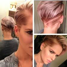 hair styles with both of sides shaved short coloured hairstyle with blond reflections and shaved