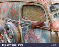 Old Ford Truck Doors - an old ford truck and and deserted and dilapidated business