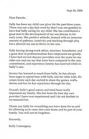 letter of recommendation for daycare provider images letter