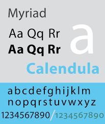 myriad typeface wikipedia