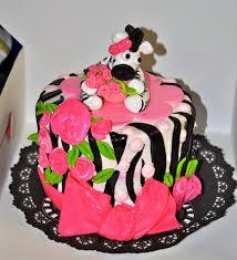 leah u0027s sweet treats zebra print baby shower cake and cupcakes