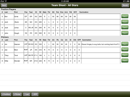baseball scouting report template team sheet iproscout baseball